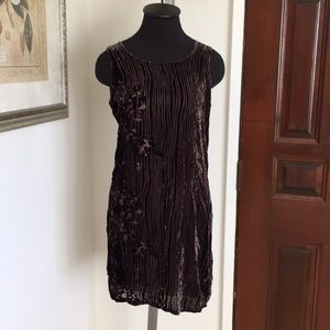 Vintage velour dress set